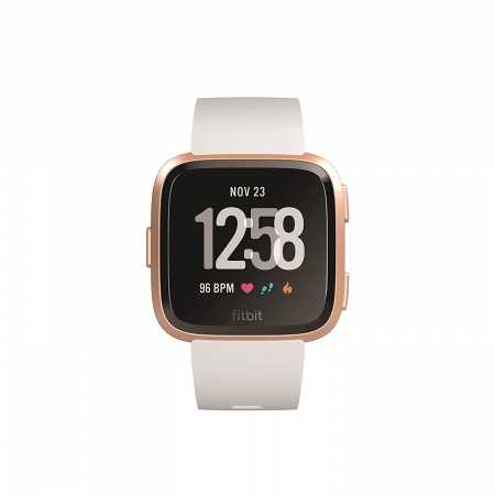 Fitbit Versa (NFC) w FitbitPay - White Band / Rose Gold Case