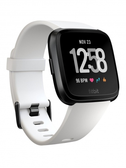 Fitbit Versa (NFC) - White Band / Black Case