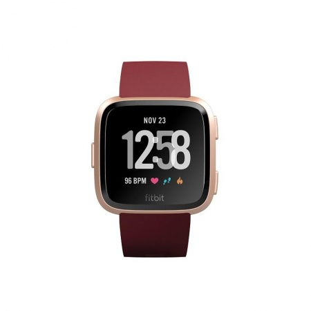 Fitbit Versa (NFC) - Merlot Band / Rose Gold Case