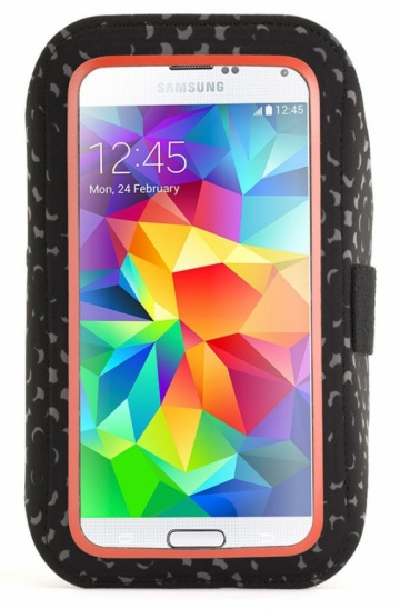 Griffin Armband Adidas Licensed Galaxy S5, S6 - Black/Solar Red