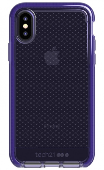 Tech21 Evo Check Kenley for iPhone X/XS - Ultra Violet