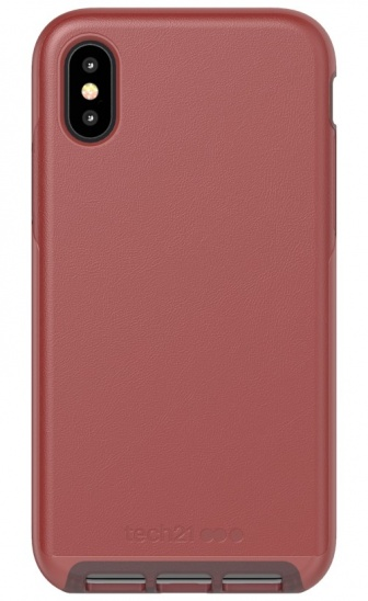 Tech21 Evo Luxe Kenley for iPhone X/XS - Chestnut Leather