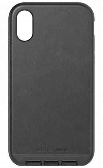 Tech21 Evo Luxe for iPhone XR - Black Leather