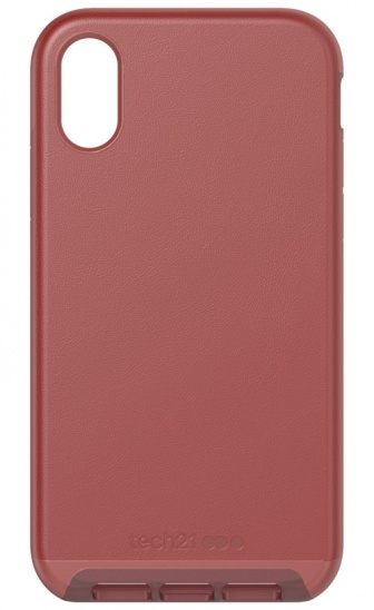 Tech21 Evo Luxe for iPhone XR - Chestnut Leather