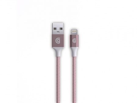 Griffin 1m Charge/Sync Cable, Braided Lightning - Rose Gold