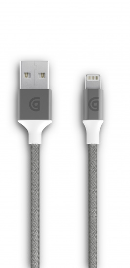 Griffin 1m Charge/Sync Cable, Braided Lightning - Silver