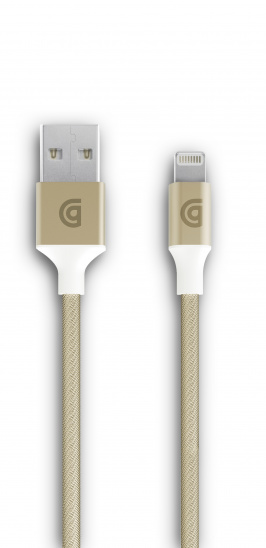 Griffin 1m Charge/Sync Cable, Braided Lightning - Gold