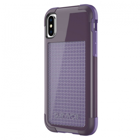 Griffin INTL Survivor Fit iPhone X/XS - Purple Smoke/Purple