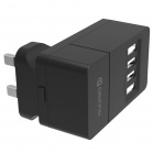 Griffin 4-Port 4.8A USB Mains Charger, UK - Black