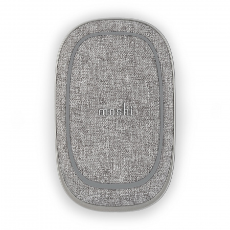 Moshi Porto Q 5K portable battery with Qi wireless charging pad - Nordic Gray