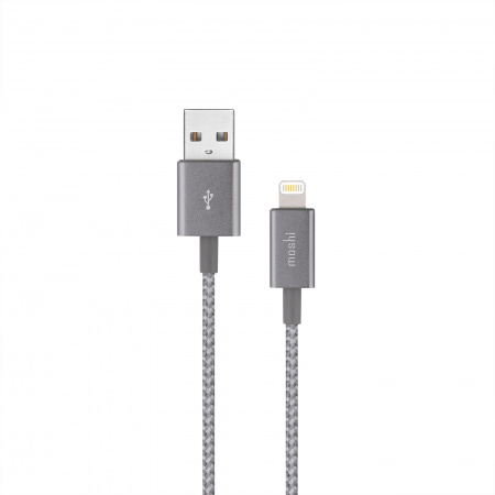Moshi Integraª USB-A Charge/Sync Cable with Lightning Connector (0.25 m) - Titanium Gray