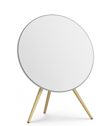 Bang&Olufsen Speaker A9 GVA (4th Gen) White with Oak Legs and White Fabric