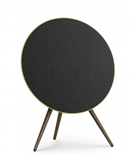Bang&Olufsen Speaker A9 GVA (4th Gen) Brass with Oak Legs and Brass Fabric