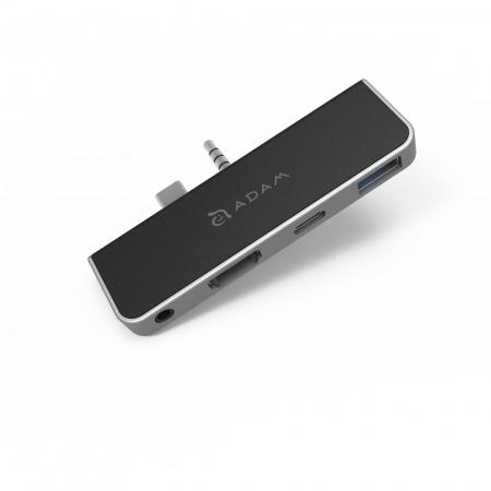 Adam Elements Casa Hub S4h 4 in 1 Hub for Surface go (3y warranty) - Silver