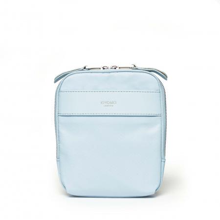 Knomo REXCross Body Nylon w Full Grain Leather Trim - POPLIN BLUE (Female)
