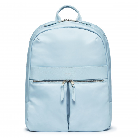 Knomo BEAUCHAMP L Backpack 14-inch Nylon w Full Grain Leather Trim - POPLIN BLUE (Female)