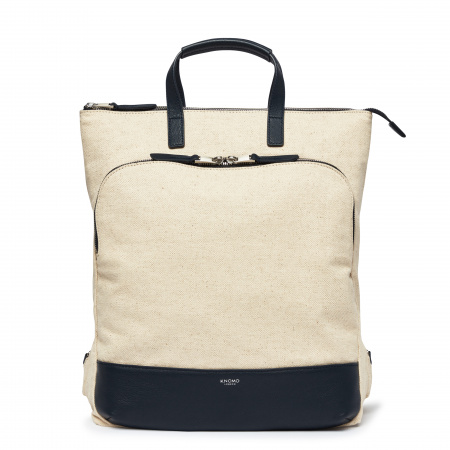 Knomo HAREWOODTotepack 15-inch Canvas w Full Grain Leather Trim - NATURAL (Female)