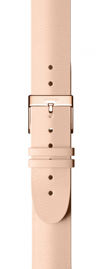 Withings Accessory Leather Wristband Rose Gold Buckle (18mm) for Steel and Steel HR (36mm) - Nude
