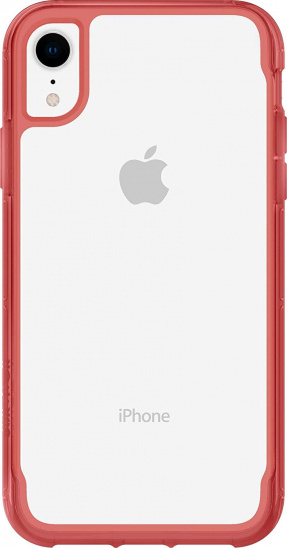 Griffin Survivor Clear for iPhone XR - Clear/Tomato
