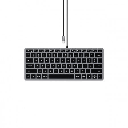Satechi Slim W1 USB-C BACKLIT Wired Keyboard - US - Space Grey