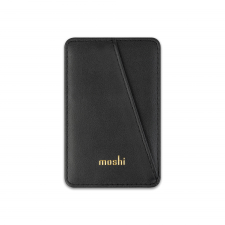 Moshi SnapToª Slim Wallet Magnetic card wallet with tap-and-go pass-through - Black