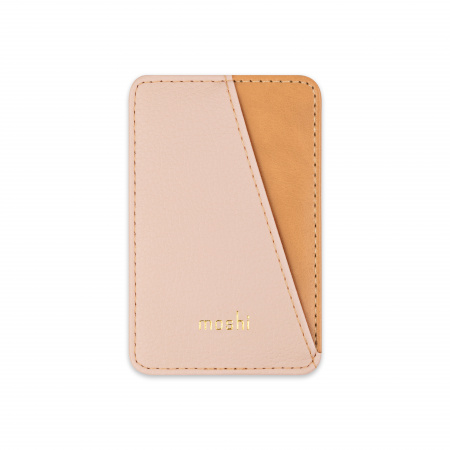 Moshi SnapToª Slim Wallet Magnetic card wallet with tap-and-go pass-through - Luna Pink