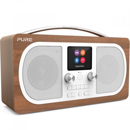 Pure Evoke H6 DAB+ Radio with Bluetooth - Walnut