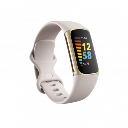 Fitbit Charge 5 Lunar White/Soft Gold Stainless Steel