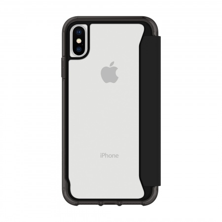 Griffin Survivor Clear Wallet for iPhone X/XS - Black/Clear