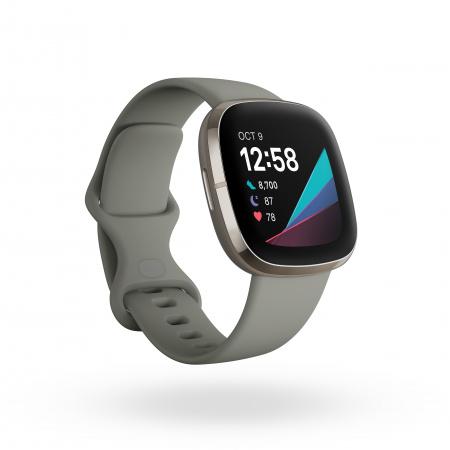 Fitbit Sense - Sage Grey/Silver Stainless Steel