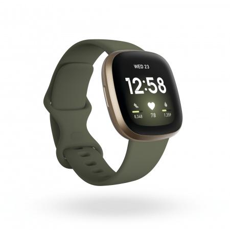Fitbit Versa 3 - Soft Gold Aluminum/Olive