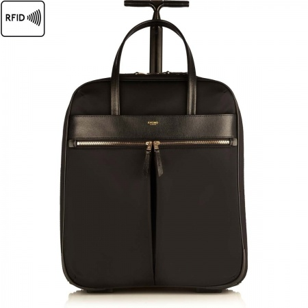 Knomo BURLINGTON Wheeled Business Bag 15inch - Black