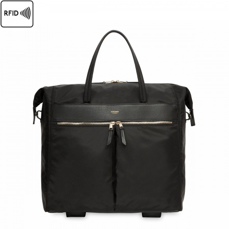 Knomo SEDLEY Wheeled Travel Tote 15inch - Black