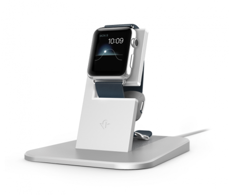 TwelveSouth HiRise Stand for Apple Watch - Silver