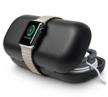 TwelveSouth TimePorter travel tote and portable charging stand for Apple Watch - black