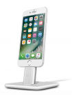 TwelveSouth HiRise Deluxe 2 Desktop Stand for iPhone; Smartphones; incl. Lighting & Micro-USB-cable -  silver