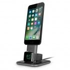 TwelveSouth HiRise Duet Dual Charging Stand for iPhone and Apple Watch - gray