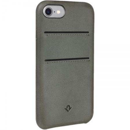 TwelveSouth Relaxed  kožený obal s kapsou na iPhone 7 - zelená