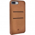 TwelveSouth Relaxed kožený obal s kapsou na iPhone 7 Plus - hnědá