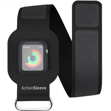 TwelveSouth ActionSleeve armband for 38mm Apple Watch - black