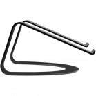 TwelveSouth Curve aluminum stand for MacBook and Notebooks - matt black