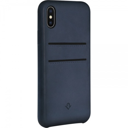 TwelveSouth Relaxed Leather Clip with pockets for iPhone X/XS - indigo