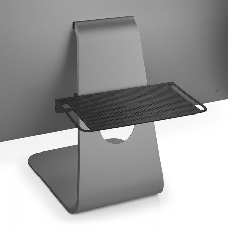 TwelveSouth BackPack 3: adjustable shelf for iMac, Cinema Display - black