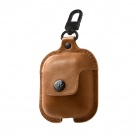 TwelveSouth AirSnap Leather Case for Apple Airpods - cognac
