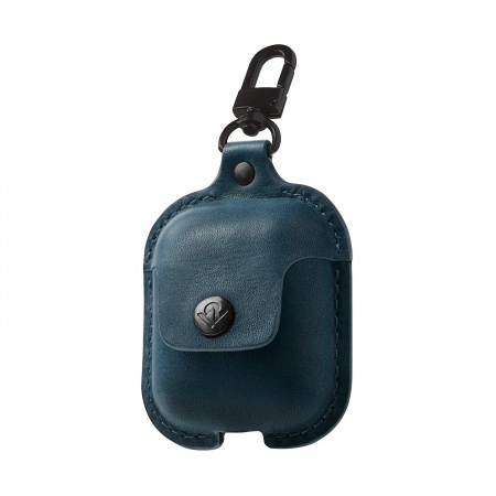 TwelveSouth AirSnap Leather Case for Apple Airpods - deep-teal