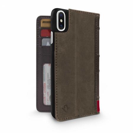 TwelveSouth BookBook for iPhone XR - brown