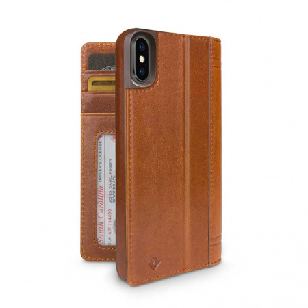 TwelveSouth Journal for iPhone XS Max - cognac