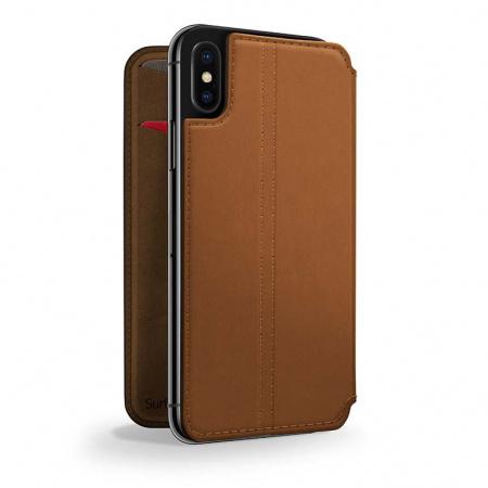 TwelveSouth SurfacePad for iPhone XR - cognac