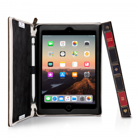 TwelveSouth BookBook Genuine Leather Case for iPad Mini 5 - Brown