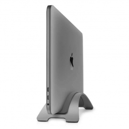 TwelveSouth BookArc Vertical Stand for MacBook 2020 - Space grey